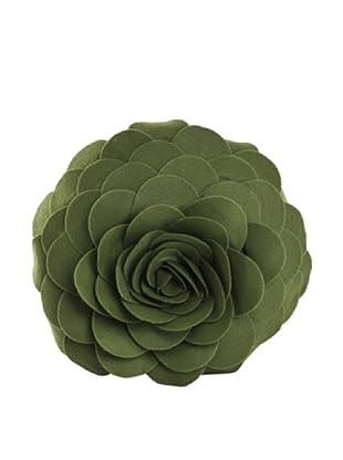 Saro Lifestyle Kiwi Flower Pillow