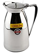 Embassy China Stainless Steel Water Jug / Pitcher (Size 6, Steel)