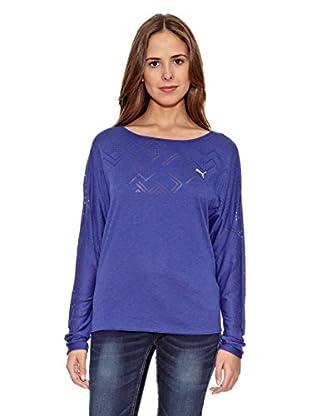 Puma Camiseta Studio Yogini Ls (Azul)