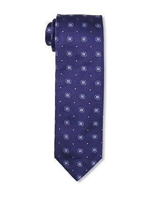 Massimo Bizzocchi Men's Geo Floral Tie, Blue