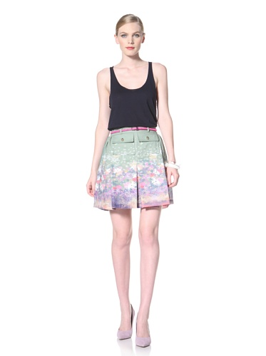 Timo Weiland Women's Printed Skirt with Pockets (Coastal Floral Print)