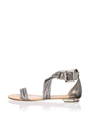Schutz Women's Flat Sandal (Pewter)