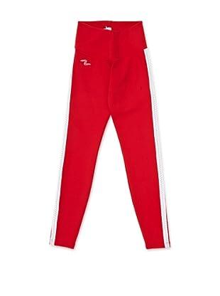 Naffta Pantalón Ajustado (Rojo / Blanco)