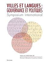 Villes et langues : gouvernance et politiques