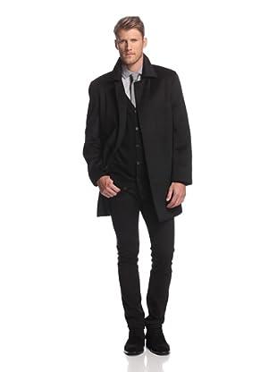 Martin Gordon Men's Basic Car Coat (Black)