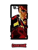 Caseque Iron Man - Tony Stark Back Shell Case Cover For Sony Xperia Z1 Compact