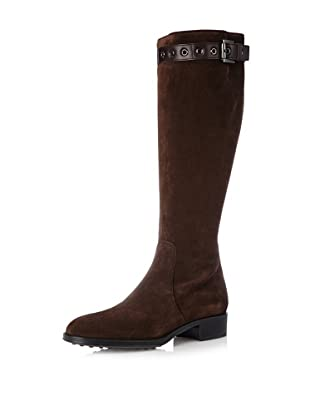 Tod's Women's Flat Tall Boot (Black)