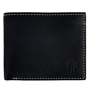 Woodland W-112 Genuine Leather Black Wallet For Men