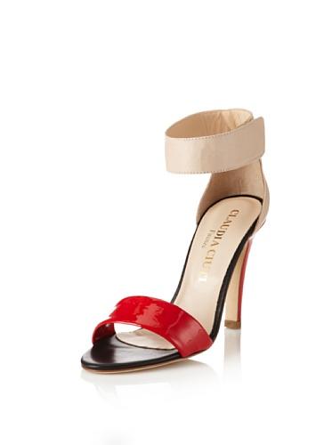 Claudia Ciuti Women's Movida Sandal (Red/Beige)