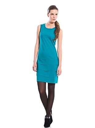 Cortefiel Vestido Al Tono (Azul)