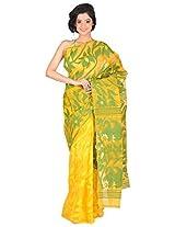 RLB Fashion Women's Cotton Silk Saree (Rlb-00117_C, Yellow, Free Size)