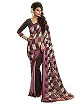 Inddus Women Multi Georgette Printed saree
