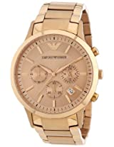 Emporio Armani Chronograph Rose Gold Tone Ladies Watch AR2452