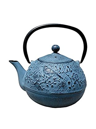 Old Dutch International Cast Iron 24-Oz. Suzume Teapot, Waterfall Blue