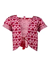 Tickle Girls Kid's Shrug(TISR000017A-2-3 Y_Pink_2-3 Y)