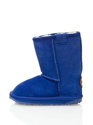 Emu Wallaby Lo K10102 - Botas de ante para niños (Azul)