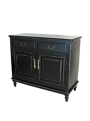 Charleston Paladin Buffet Cabinet, Antique Black
