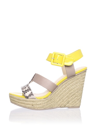 Calvin Klein Women's Ellison Wedge Sandal (Natural/Taupe)