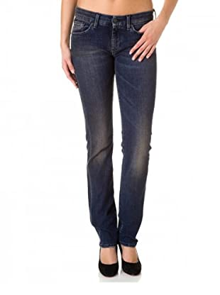 7 for all Mankind Jeans Kimmie South Soul Straight Leg (Dunkelblau)
