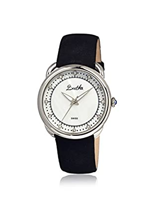 Bertha Women's BR4001 Beverly Black/White Leather Watch