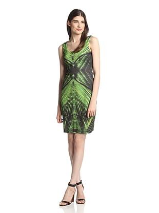 Muse Women's Fitted Print Tank Sheath (Green Multi)