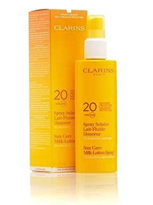 Clarins Sun Care Milk Lotion Spray SPF 20. 150 ml. Preis/100ml: 13.97 EUR.