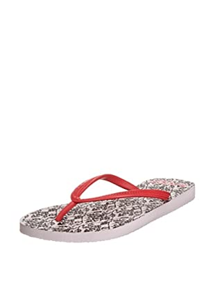 Reef Chanclas Beach Haze Trainer (Blanco/Negro/Rojo)