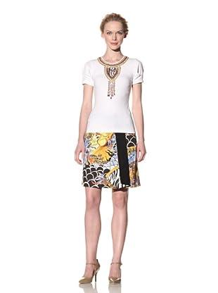 Philosophy di Alberta Ferretti Women's Embellished Tee (White)