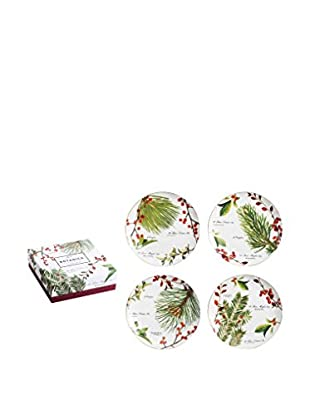Rosanna Set of 4 Botanica Plates