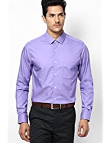 Purple Full Sleeve Formal Shirt Peter England