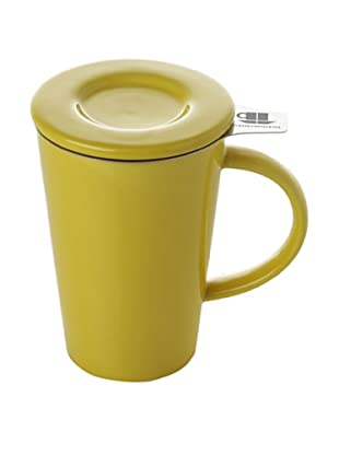 Classic Coffee & Tea Set of 4 Mugs with Stainless Steel Filters (Banana Yellow)