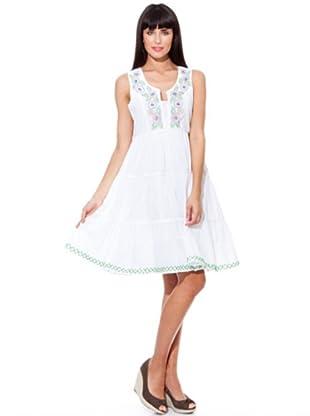 Peace & Love Vestido Bordado (blanco)