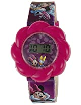 Disney Digital Multi-Color Dial Girls's Watch - TP-1258 (Purple)