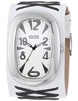 Eos New York Eos New York Unisex 33Bblkwht Voo Doo Detailed Leather Strap Watch - 33Bblkwht