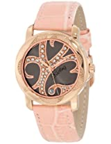 Stuhrling Original Women's 138.124A64 Vogue Audrey Isis Swiss Quartz Swarovski Crystal Date Pink Watch
