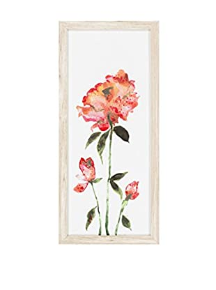 Surya Coral Water Color Flower Wall Décor, Multi, 26