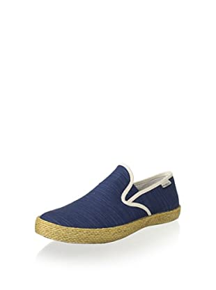 SeaVees Men's Baja Slip-On Espadrille (Gulf Blue/Alabaster Slub)