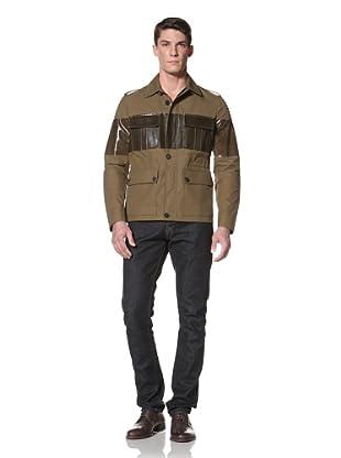 Simon Spurr Men's Safari Biker Jacket (Military Green)