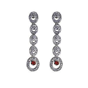 Jewel Paradise Pearl Dangle & Drop Earring For Women (Silver)