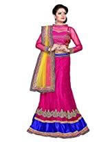 SURUPTA Stunning Pink Wedding Party Wear Lehenga Choli