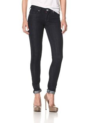 Blank Women's Regular Rise Classique Skinny Jeans (Dark Blue)