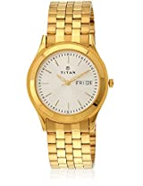 Karishma 1648Ym04 Golden/White Analog Watch Titan