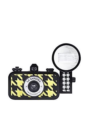 Lomography La Sardina Camera and Flash Quadrat, Black/Yellow