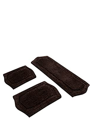 Paradise 3-Piece Memory Foam Bath Rug Set, Chocolate