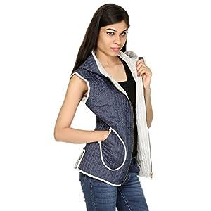 Rajrang Large Sized Soft Sleeveless Cotton Jacket - Blue & White Colored