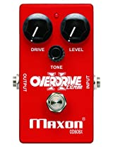 Maxon Overdrive Extreme Guitar Effects Pedal Red
