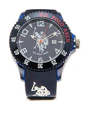 U.S. POLO ASSN. Uhr mit japanischem Quarzuhrwerk Starlight blau 44 mm
