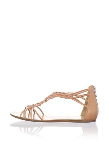 Sigerson Morrison Women's Rafee Flat Sandal (Natural)