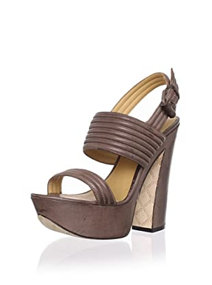 L.A.M.B. Women's Mabelle Platform Sandal (Chocolate)