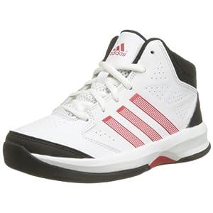 adidas Boy's Isolation K White, Black and Red Sports Shoes - 13C UK